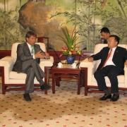 Ekonomikas ministrs tiekas ar nozīmīgu Ķīnas uzņēmēju organizāciju vadītājiem un Šanhajas pilsētas vicemēru Thumbnail